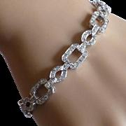 Over 3.80 Carats in 18k DIAMOND Bracelet * * * * *