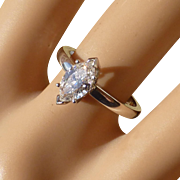 Marquise Shape Diamond Cluster Ring * * * * *