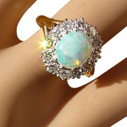 The most classic opal & Diamond Ring * * * * *