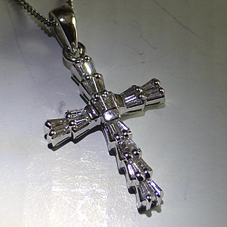 1/2 Carat 18k Diamond Cross & chain