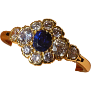 Expanding Sapphire & Diamond Low profile Ring