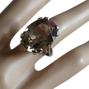 Very Large Smokey Quartz Ring