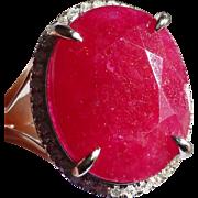 8.50 Carat Natal Ruby & Diamond Ring * * * * *