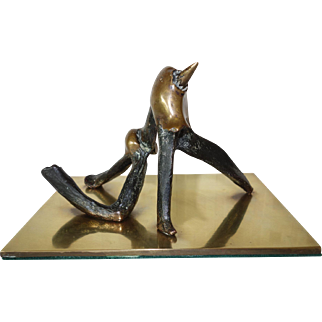 Bronze abstract sculpture by Eli Ilan