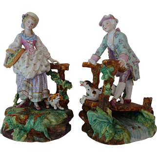 Vion and Baury antique figurine groups