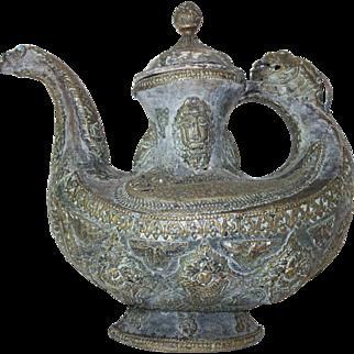 Tibetan chang pot c1890