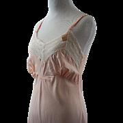 Vintage 1940s 1950s Slip Bias Cut Pink Rayon NWT Myra Joy SZ 32 B34-36 W34