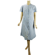 Vintage Nurse - Red Cross Uniform Blue and White Stripe by Snowhite Sz 36