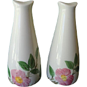 Franciscan Earthenware Desert Rose Tall Salt And Pepper Shakers