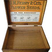Ferry And Co. Seeds Store Display Oak Box