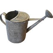 Old Galvanized Metal Watering Can Rustic Garden, Farm House Decor #12