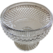 Footed Glass Bowl - Georgian Style