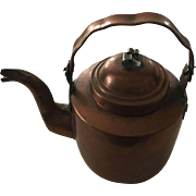 Hammered Copper Tea-Kettle - ca: 1880-1900