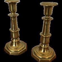 Brass Candle Stick - Pair - ca: 1850