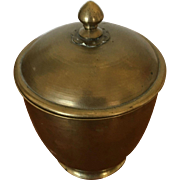 Brass Chinese Urn with Lid - ca: 1900