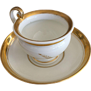 Cup & Saucer - Wheat Pattern w/Gold Luster