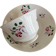 Luster Handleless Cup & Saucer - 1800's