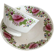Cup & Saucer - Handle-Less Cup - ca: 1800's