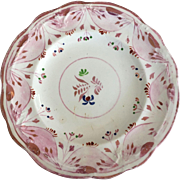 Pink Luster Cup Plate/Saucer - ca: 1800's