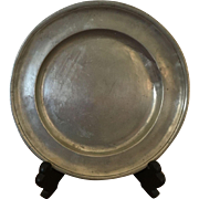 "Pewter Plate - 8-1/2"" diameter"