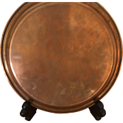 "Copper Plate or Small Tray - 8-1/4"" diameter"