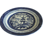 Chinese plate - blue and white -ca: 1800-1850