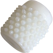 "Hobnail White Milk Glass Vase - 1-3/4"" Tall"