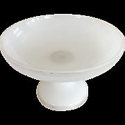 Opalescent White Glass Dish/Compote - Pedestal Base