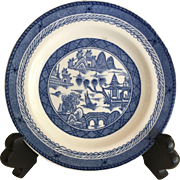 "Chinese Canton Woods Ware Plate - 6"" diameter"