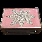"Enamel & Copper Match Box Holder - 2-1/4"" Length"