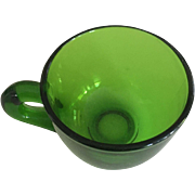 "Green Glass Small/Punch Cup - 2"" Height"