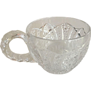 "Cut Glass - Clear Small/Punch Cup - 2"" in height"
