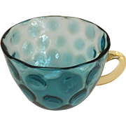 "Blue Thumb Print Cup - 2"" in height"