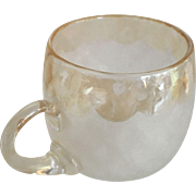 "Frosted Scalloped Edge Glass Cup - 2-1/2"" Height"