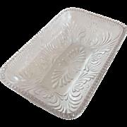 Dish - Rosette with Fan Pattern