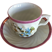 Pink Luster Cup & Saucer -1800's