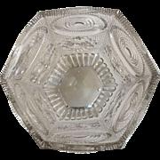 Flint Glass - Panel/Circle Designs - ca: 1800's