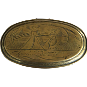 Dutch Tobacco Box with Hinged Lid - ca: 1750