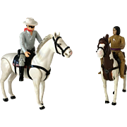 Lone Ranger, Silver, Tonto & Scout Figures