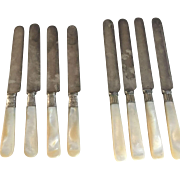 Knives w/ Mother of Pearl Handles (8)