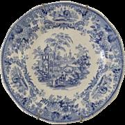 Blue & White Plate - ca:1835-1859