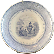 Blue & White Antique Plate - ca: 1800's