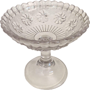 Footed Candy Dish Roman Rosette ca: 1875-1898
