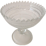 Frosted Glass with Pedestal Base Compote