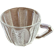 Paneled & Beaded Punch Cup w/flat square handle