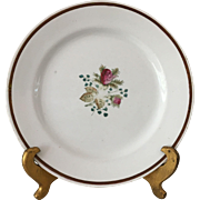 "Luster ""Moss Rose"" Plate ca: 1891-1910"