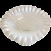 Fenton Opalescent Glass Top Hat w/Ruffled Rim - ca:1880-1910