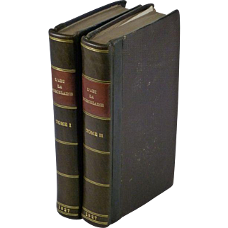 1827 Study of Porcelain Manufacture & Ceramics Industry - 2 Volumes with Plates