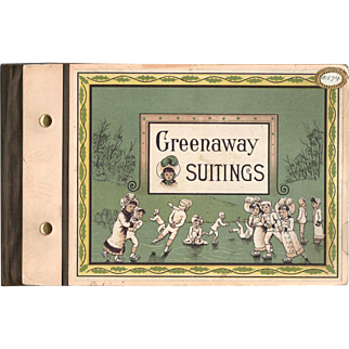 1880s Greenaway Suitings Printed Cloth Sample Book from the Merrimack Mfg. Co. Mills.