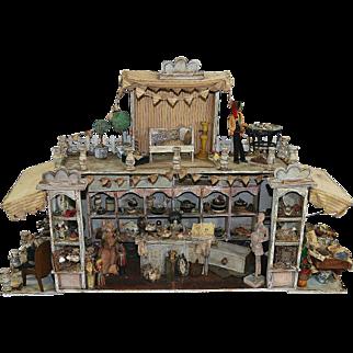 French Diorama Handmade Doll House 1870s-1920s